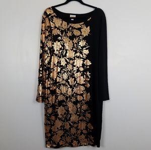 Lularoe Metallic Elegant Debbie Dress 2XL